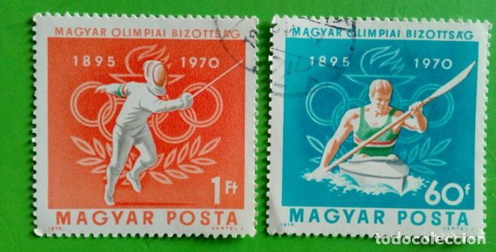 HUNGRIA 1970- JOGOS OLÍMPICOS. USED (Sellos - Extranjero - Europa - Hungría)