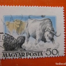 Timbres: HUNGRIA 1956, PERROS, YVERT 1191. Lote 175963869