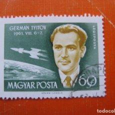 Sellos: HUNGRIA 1962, CONQUISTA DEL ESPACIO, YVERT 244 AEREO. Lote 176124164