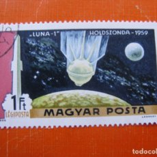 Sellos: HUNGRIA 1969, DESCUBRIENDO EL ESPACIO, YVERT 311 AEREO. Lote 176125260