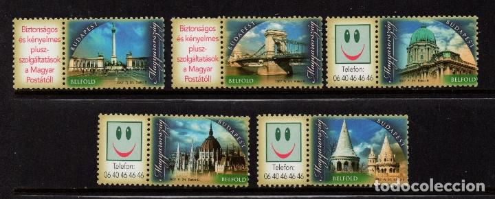 HUNGRIA 4218/22** - AÑO 2007 - MONUMENTOS DE BUDAPEST (Sellos - Extranjero - Europa - Hungría)