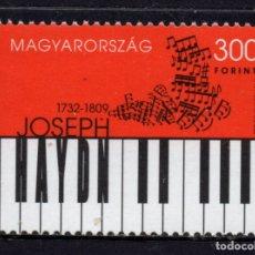 Sellos: HUNGRIA 4330** - AÑO 2009 - PERSONALIDADES - MUSICA - JOSEPH HAYDN, COMPOSITOR. Lote 176916527