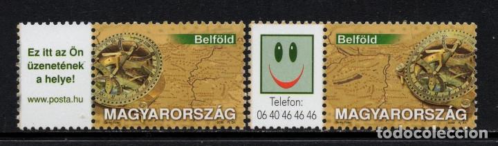 HUNGRIA 4252/53** - AÑO 2008 - SELLOS DE MENSAJE - MAPAS (Sellos - Extranjero - Europa - Hungría)