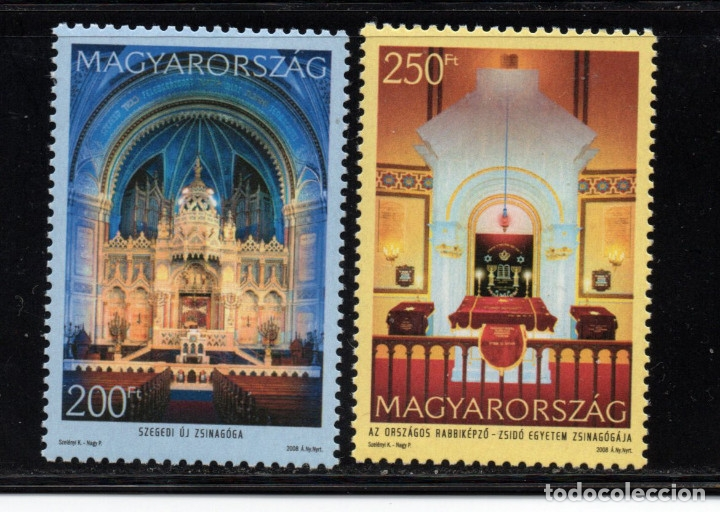 HUNGRIA 4291/92** - AÑO 2008 - SINAGOGAS DE HUNGRIA (Sellos - Extranjero - Europa - Hungría)
