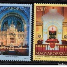 Sellos: HUNGRIA 4291/92** - AÑO 2008 - SINAGOGAS DE HUNGRIA. Lote 178583490