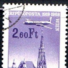 Sellos: (HO 316) SELLO HUNGRIA. AEREO // YVERT 300 // 1968. Lote 179541387