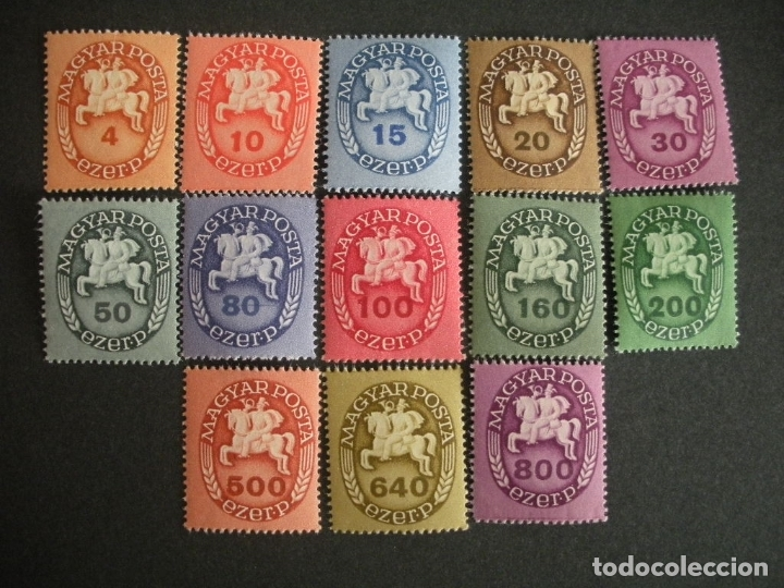 HUNGRIA 1946 IVERT 773/85 *** SERIE BÁSICA - MENSAJERO (Sellos - Extranjero - Europa - Hungría)