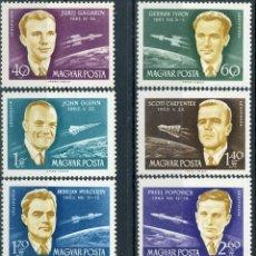 Sellos: HUNGRIA 1962 AEREO IVERT 243/9 *** ASTRONAUTAS - CONQUISTA DEL ESPACIO. Lote 180113835