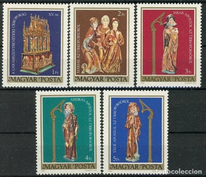 HUNGRIA 1980 IVERT 2718/22 *** ARTE - SEPULCRO DE PASCUA DE GARAMSZENTBENEDEK (Sellos - Extranjero - Europa - Hungría)