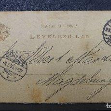 Sellos: ENTERO POSTAL DE HUNGRIA CIRCULADA AÑO 1893. Lote 183201807