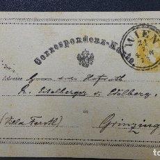 Sellos: ENTERO POSTAL DE AUSTRIA CIRCULADO AÑO 1873. Lote 183202075