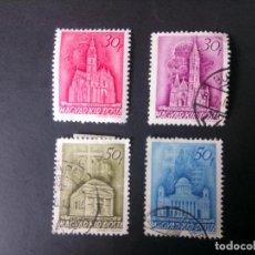 Sellos: HUNGRÍA 1939, MONUMENTOS. Lote 183377876