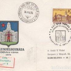 Sellos: SOBRE MATASELLO ESPECIAL HUNGRIA.. Lote 184638690