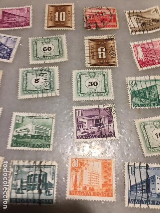 Sellos: Antiguo lote de sello / sellos de Hungría matasellados, varios años 40-50-60-70-80-90 - Foto 3 - 188684461