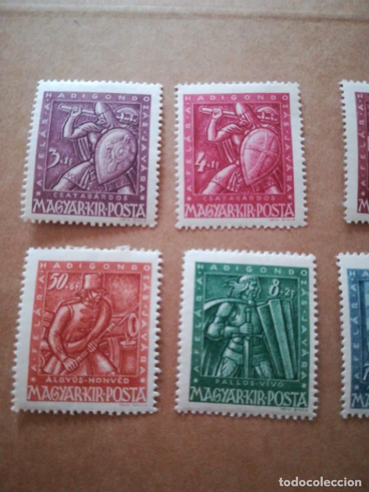 Sellos: Set sellos antiguo Hungría guerreros con goma - Foto 2 - 189753558