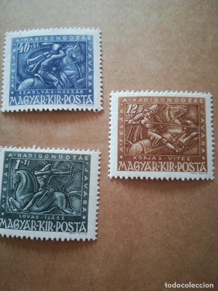 Sellos: Set sellos antiguo Hungría guerreros con goma - Foto 4 - 189753558