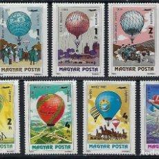 Sellos: HUNGRIA 1983 AEREO IVERT 450/6 *** 2º CENTENARIO PRIMERAS ASCENSIONES DEL HOMBRE - GLOBOS. Lote 193701717