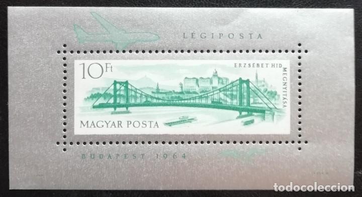 1964. HUNGRÍA. HB 51. PUENTE ERZSEBET. BUDAPEST. NUEVO. (Sellos - Extranjero - Europa - Hungría)
