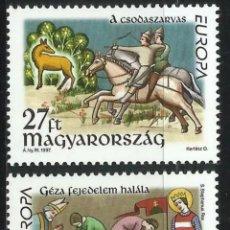 Sellos: HUNGRÍA, MNH, CUENTOS Y LEYENDAS, EUROPA CEPT 1997 (FOTOGRAFÍA REAL). Lote 202625428
