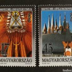 Sellos: HUNGRÍA, N°3411/12 MNG, EUROPA CEPT 1993, ARTE CONTEMPORÁNEO (FOTOGRAFÍA REAL). Lote 203309092