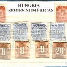Sellos: LOTE DE SELLOS DE HUNGRIA. SERIES NUMÉRICAS. Lote 205728910