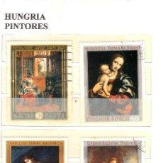 Sellos: LOTE DE SELLOS DE HUNGRIA. SERIE PINTORES. Lote 205730867