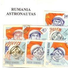 Sellos: LOTE DE SELLOS DE RUMANIA. ASTRONAUTAS. Lote 205731873