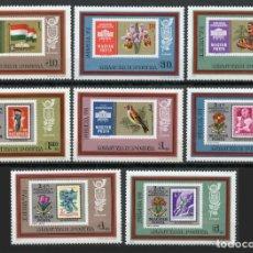 Sellos: HUNGRIA 1973 - EXPO FILATELICA IBRA 73 Y POLSKA 73 - YVERT Nº 2301/2308**. Lote 206561515