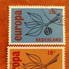 Sellos: HOLANDA, EUROPA CEPT 1965 USADA (FOTOGRAFÍA REAL). Lote 212579262
