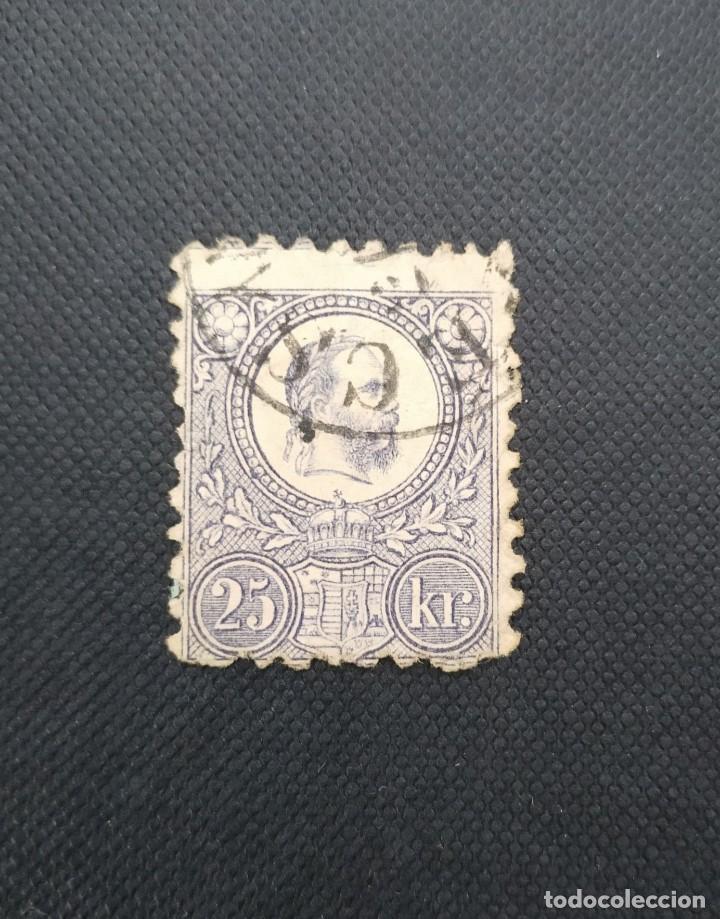 ANTIGUO SELLO DE HUNGRIA 1871, REY FRANCISCO JOSE (Sellos - Extranjero - Europa - Hungría)