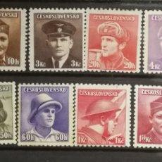 Sellos: HUNGRÍA N°387/02 (16V) SOLDADOS 1945 SIN GOMA (FOTOGRAFÍA REAL). Lote 220265882