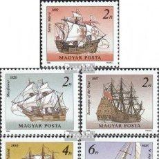 Sellos: HUNGRIA 1988 IVERT 3166/70 *** VELEROS CELEBRES - BARCOS. Lote 221571393