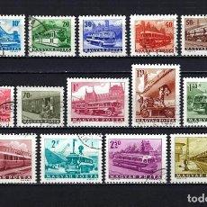 Sellos: 1963 HUNGRÍA MICHEL 1924/1937 YVERT 1555/1570 TRANSPORTES Y TELECOMUNICACIONES USADOS Y NUEVOS. Lote 221932906