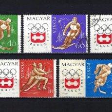 Sellos: 1963 HUNGRÍA MICHEL 1975/1982 YVERT 1606/1613 (-1612) JUEGOS OLÍMPICOS DE INVIERNO INNSBRUCK USADOS. Lote 221934616