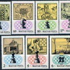 Sellos: HUNGRIA 1974 IVERT 2371/7 *** 21º JUEGOS OLÍMPICOS DE AJEDREZ - DEPORTES. Lote 222364032