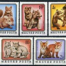 Sellos: HUNGRIA 1975 IVERT 2480/6 *** FAUNA - ANIMALES SALVAJES. Lote 222453405