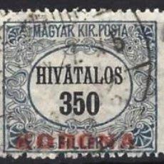 Sellos: HUNGRÍA 1923 - SELLOS OFICIALES, NÚMERICOS, SOBREIMPRESOS Y CON RECARGO, S.COMPLETA - USADOS. Lote 228043320