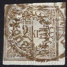 Sellos: HUNGRÍA 1868 - SELLO DE IMPUESTOS, 2 KR. - USADO. Lote 228046235