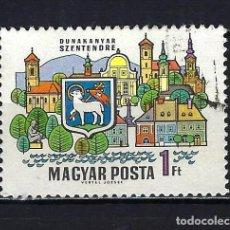 Sellos: 1969 HUNGRÍA MICHEL 2515 YVERT 2052 CIUDADES DEL DANUBIO - USADO. Lote 228355150
