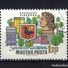 Sellos: 1969 HUNGRÍA MICHEL 2516 YVERT 2053 CIUDADES DEL DANUBIO - USADO. Lote 228355185