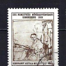 Sellos: 1969 HUNGRÍA MICHEL 2536 YVERT 2072 DIBUJO DE REMBRANDT - USADO. Lote 228355585