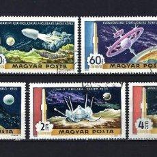 Sellos: 1969 HUNGRÍA MICHEL 0 YVERT 309/311 + 313+316 CORREO AÉREO ESPACIO ESTERIOR - USADOS. Lote 228355850