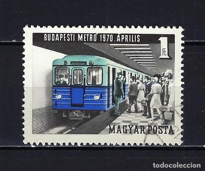 1970 HUNGRÍA MICHEL 2577 YVERT 2094 METRO DE BUDAPEST - USADO (Sellos - Extranjero - Europa - Hungría)