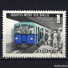 Sellos: 1970 HUNGRÍA MICHEL 2577 YVERT 2094 METRO DE BUDAPEST - USADO. Lote 228382095