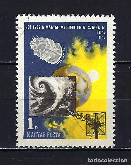 1970 HUNGRÍA MICHEL 2580 YVERT 2095 100 ANIVERSARIO SERVICIO METEREOLÓGICO - USADO (Sellos - Extranjero - Europa - Hungría)