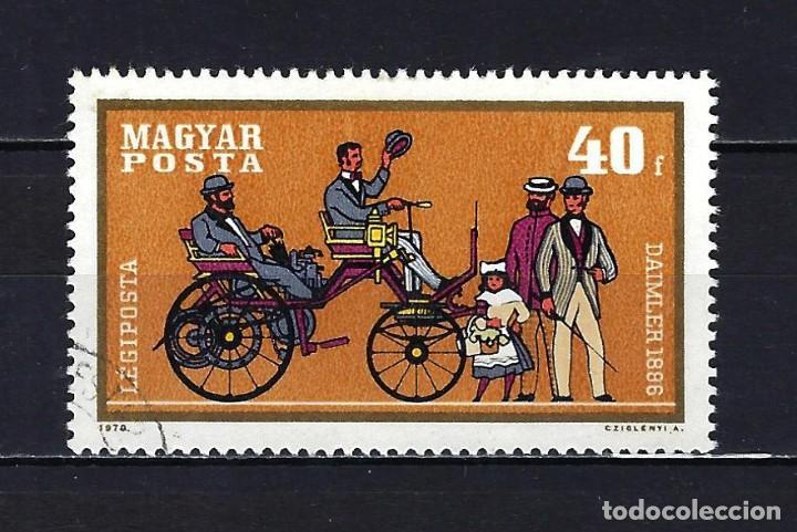 1970 HUNGRÍA MICHEL 2564 YVERT 317 CORREO AÉREO AUTOMÓVILES - USADO (Sellos - Extranjero - Europa - Hungría)