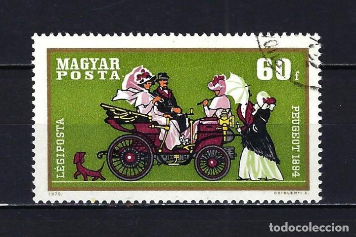 1970 HUNGRÍA MICHEL 2565 YVERT 318 CORREO AÉREO AUTOMÓVILES - USADO (Sellos - Extranjero - Europa - Hungría)