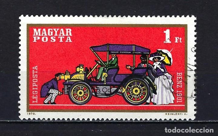 1970 HUNGRÍA MICHEL 2566 YVERT 319 CORREO AÉREO AUTOMÓVILES - USADO (Sellos - Extranjero - Europa - Hungría)