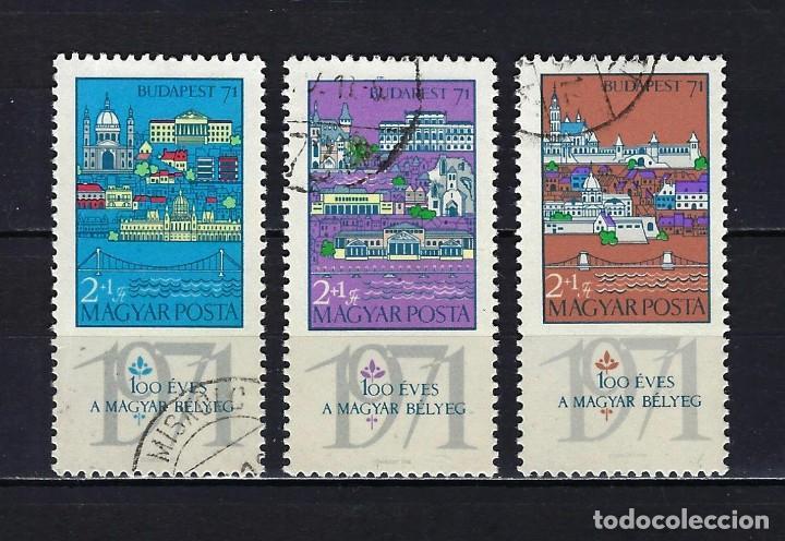 1970 HUNGRÍA MICHEL 2572/2574 YVERT 2091/2093 EXPOSICIÓN MUNDIAL DE FILATELIA - USADOS (Sellos - Extranjero - Europa - Hungría)
