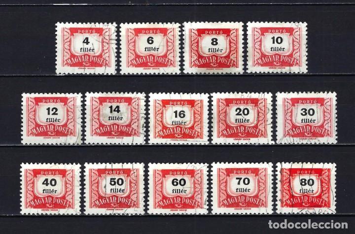 1965 HUNGRÍA MICHEL 222/237 YVERT 216/231 SERVICIO - TASAS - USADOS - FALTAN YV 224 Y 226 (Sellos - Extranjero - Europa - Hungría)